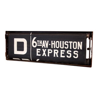 1930s New York City Subway Sign Box and Scroll For Sale