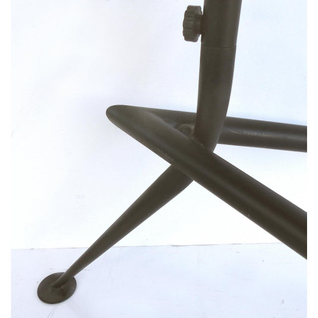 Serge Mouille Style Three Arm Floor Lamp With European Electrical Plug For Sale In Miami - Image 6 of 10