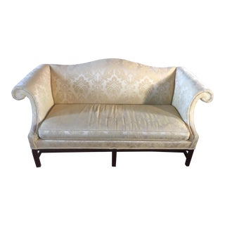 "73"" Hickory Chair Camel Back Chippendale Settee For Sale"