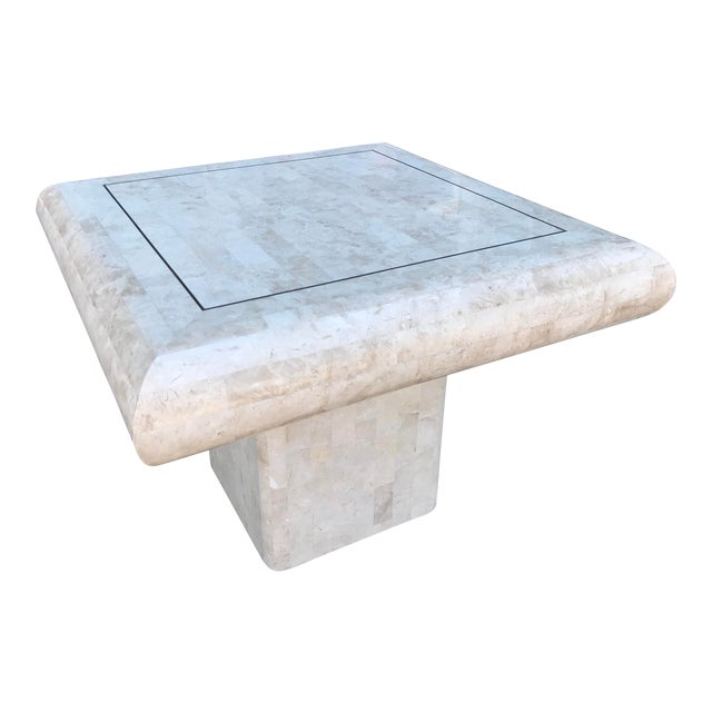 1980s Art Deco Maitland-Smith Tessellated Stone Side Table For Sale
