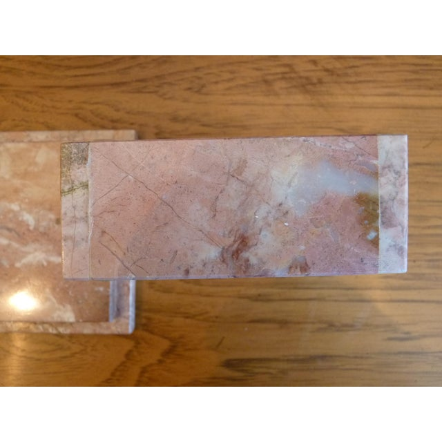 Art Deco Pink Marble Box For Sale - Image 3 of 9
