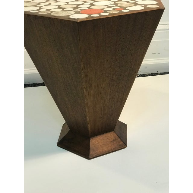 1960s Unusual Tile Accent Table with Beautiful Colored Tile For Sale - Image 5 of 6