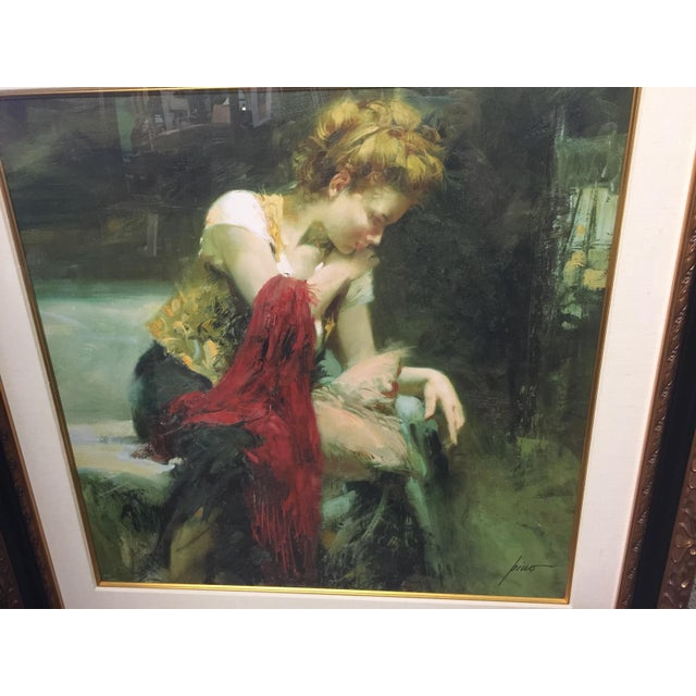 Signed Limited Edition Lithograph by Pino Daeni. Number 265 of 294. Professionally framed and matted. This is a large...