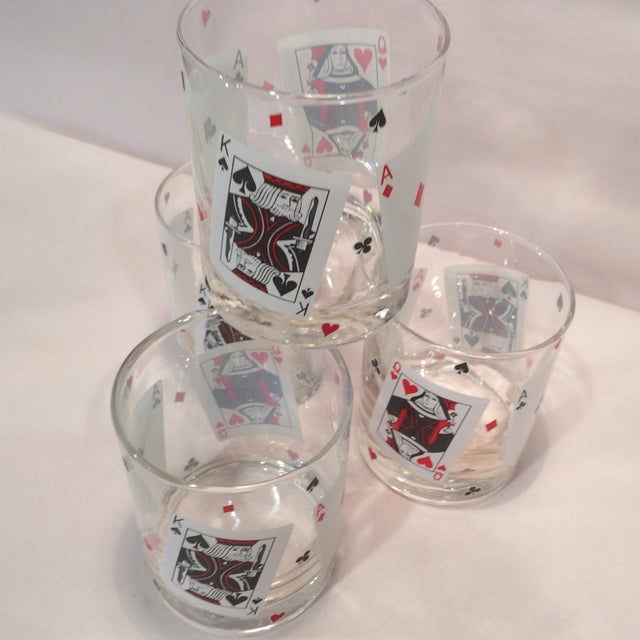 Poker Playing Card Lowball Glasses- Set of 4 - Image 6 of 11