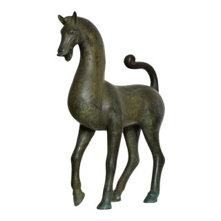 Antique Bronze Sculpture Horse Fine Antique by Toto For Sale
