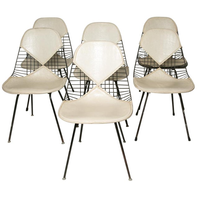 Eames for Herman Miller Bikini Chairs - Set of 6 For Sale