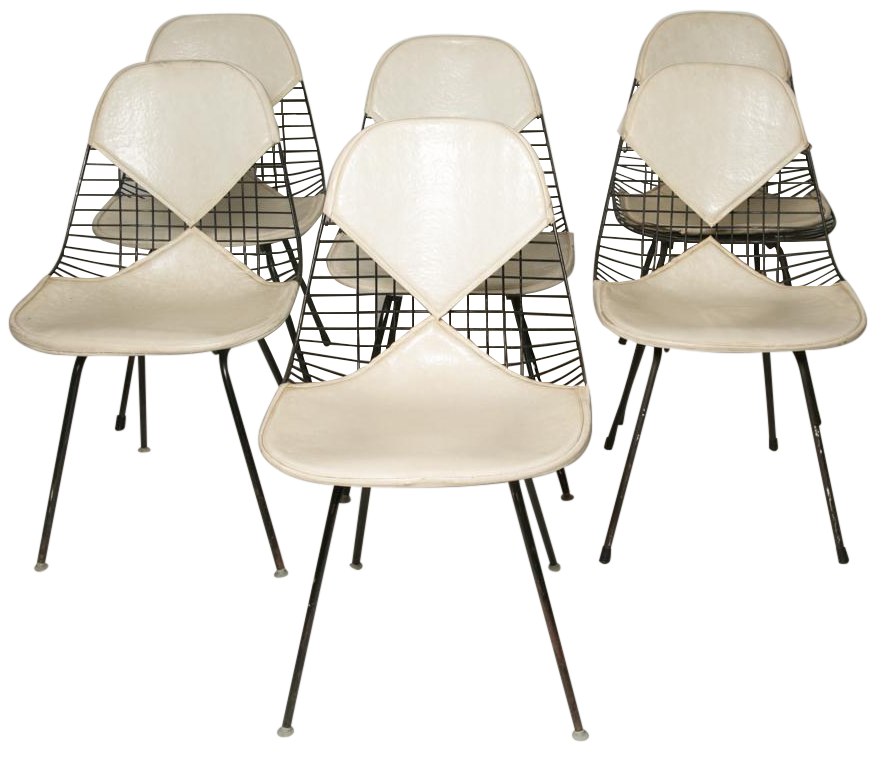 Eames For Herman Miller Bikini Chairs   Set Of 6   Image 1 Of 5