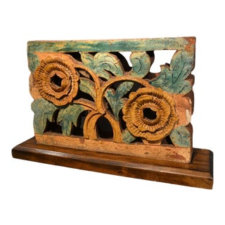 19th Century Floral Chinese Brick For Sale