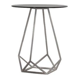 High Side Table with White Textured Matt Iron Base by Estudihac JMFerrero For Sale