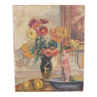 Impressionist Still Life by Sten Ossborn 1928 For Sale