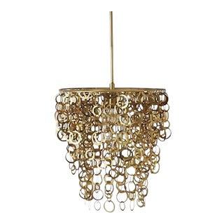 Melissa Joy Manning Brass Chandelier Pendant Light For Sale