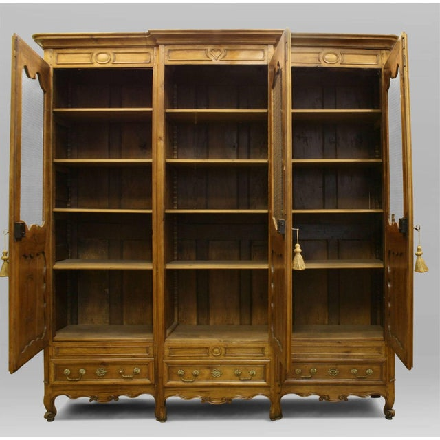 Early 19th Century French Provincial Walnut Armoire Cabinet For Sale - Image 5 of 5