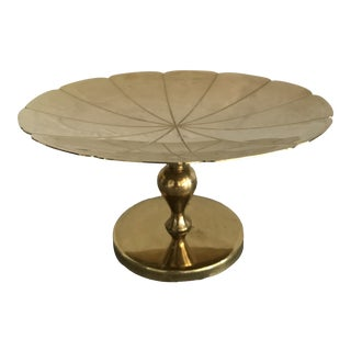 Tommi Parzinger Small Polished Brass Pedestal For Sale