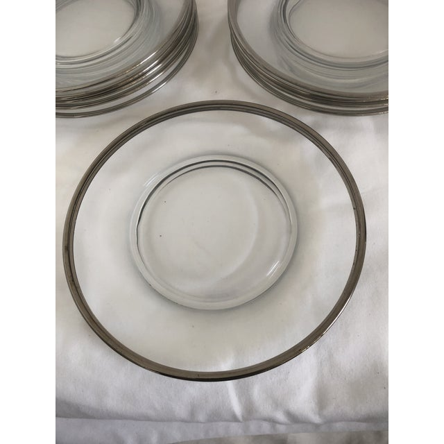 French Fostoria Wedding Ring Party Plates - Set 12 For Sale - Image 3 of 4