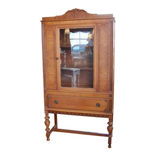 Art Deco Style China Cabinet For Sale