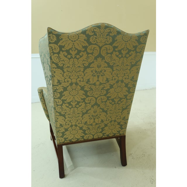 Kittinger Chippendale Mahogany Wing Back Chair For Sale - Image 10 of 13