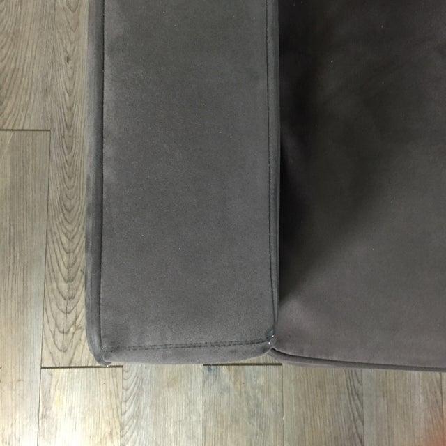 Room & Board Charcoal Suede Sofa - Image 7 of 11