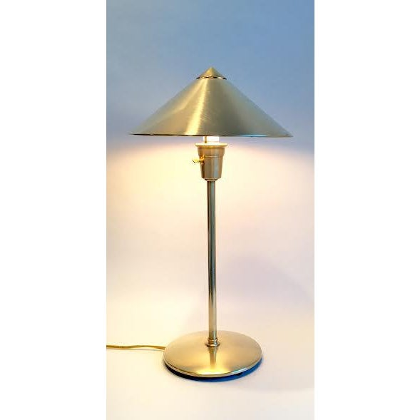 Mid-Century Atomic Brass Desk Lamp - Image 5 of 6