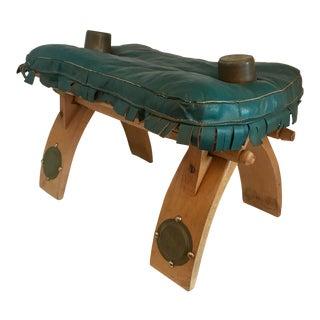 Turquoise Leather Camel Saddle