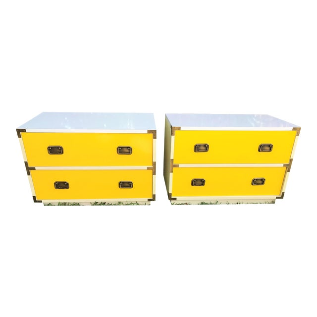 Mid-Century Campaign Side Tables - A Pair - Image 1 of 10