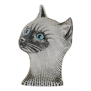 Vintage Abraham Palatnik Op Art Brazilian Cat Figurine Blue Eyes For Sale