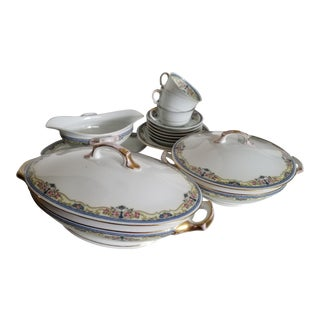 Early 20th Century Czechoslovakian Epiag China Serving Pieces - Set of 11 For Sale