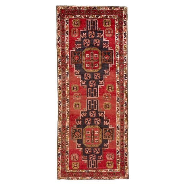 "Apadana - Vintage North West Persian Rug, 4'7"" X 11'3"" For Sale - Image 9 of 9"
