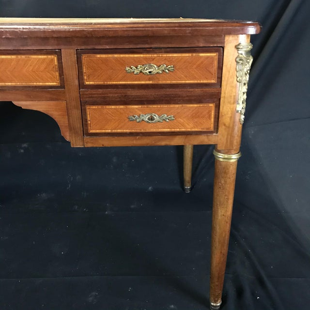 French 19th Century French Walnut Louis XVI Desk For Sale - Image 3 of 13