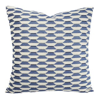 "Thibaut Optica in Sky Blue Pillow Cover - 20"" X 20"" For Sale"