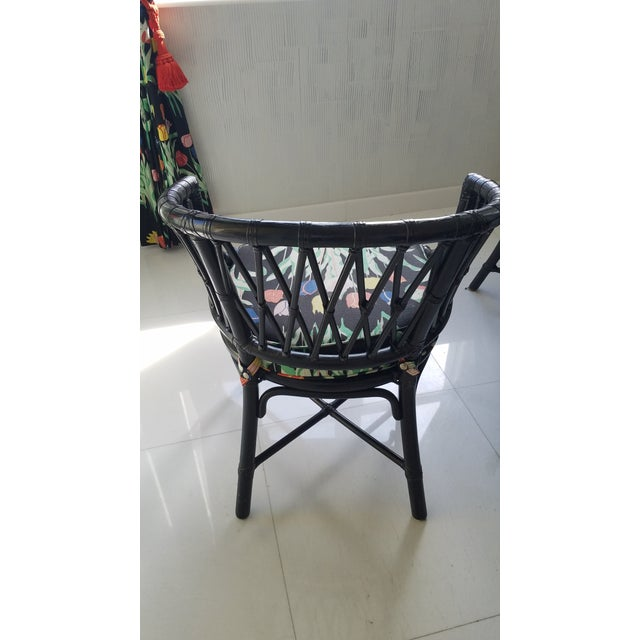 Black Country McGuire Rattan Sheath of Wheat Dining Set - 7 Pieces For Sale - Image 8 of 13