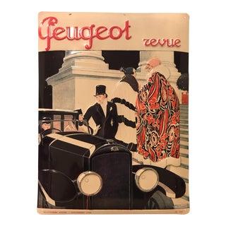 Vintage Metal 3-D Peugeot Advertisement Sign