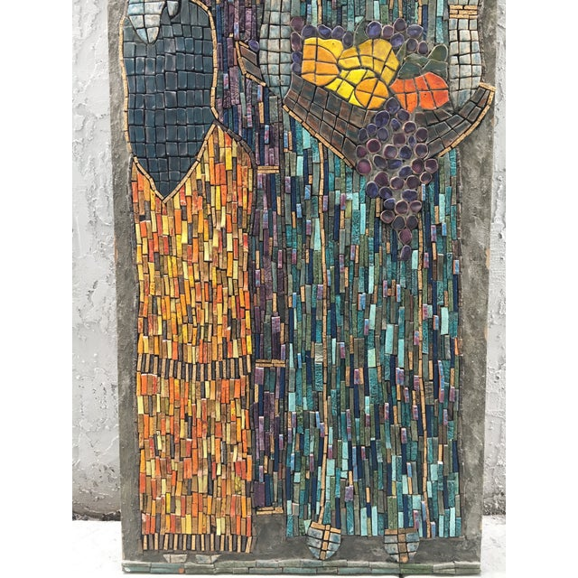 Ceramic Figurative Mosaic Wall Piece For Sale - Image 7 of 8