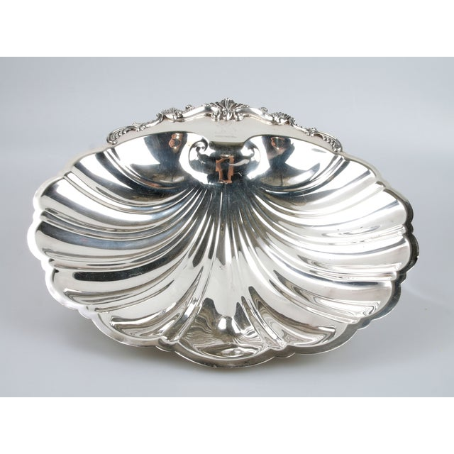 Signed Silver on Copper Clam Shell Bowl For Sale - Image 10 of 10