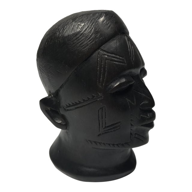 Antique Carved Wooden Head - Image 1 of 11