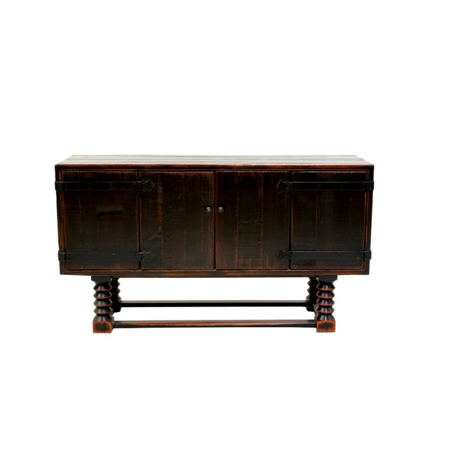 Sarreid LTD Zimmerman Style Ebonized Sideboard - Image 5 of 5