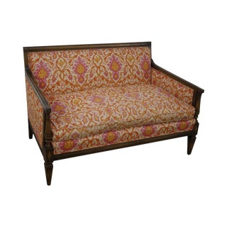 Pink & Orange Louis XVI Loveseat For Sale