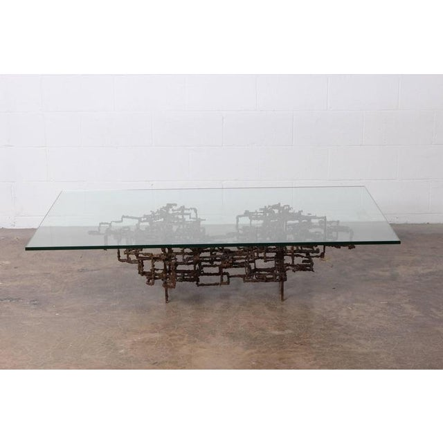 Bronze Brutalist Coffee Table by Daniel Gluck - Image 3 of 10