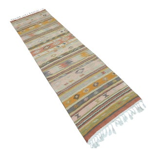"Vintage Turkish Kilim Runner-2'8'x9'8"" For Sale"