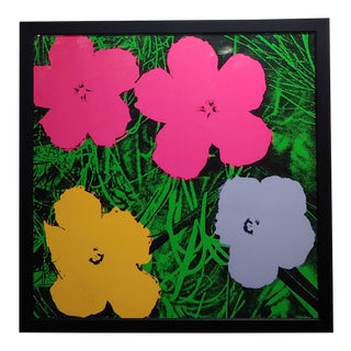 Andy Warhol Flowers Vintage Screenprint by Sunday B. Morning For Sale