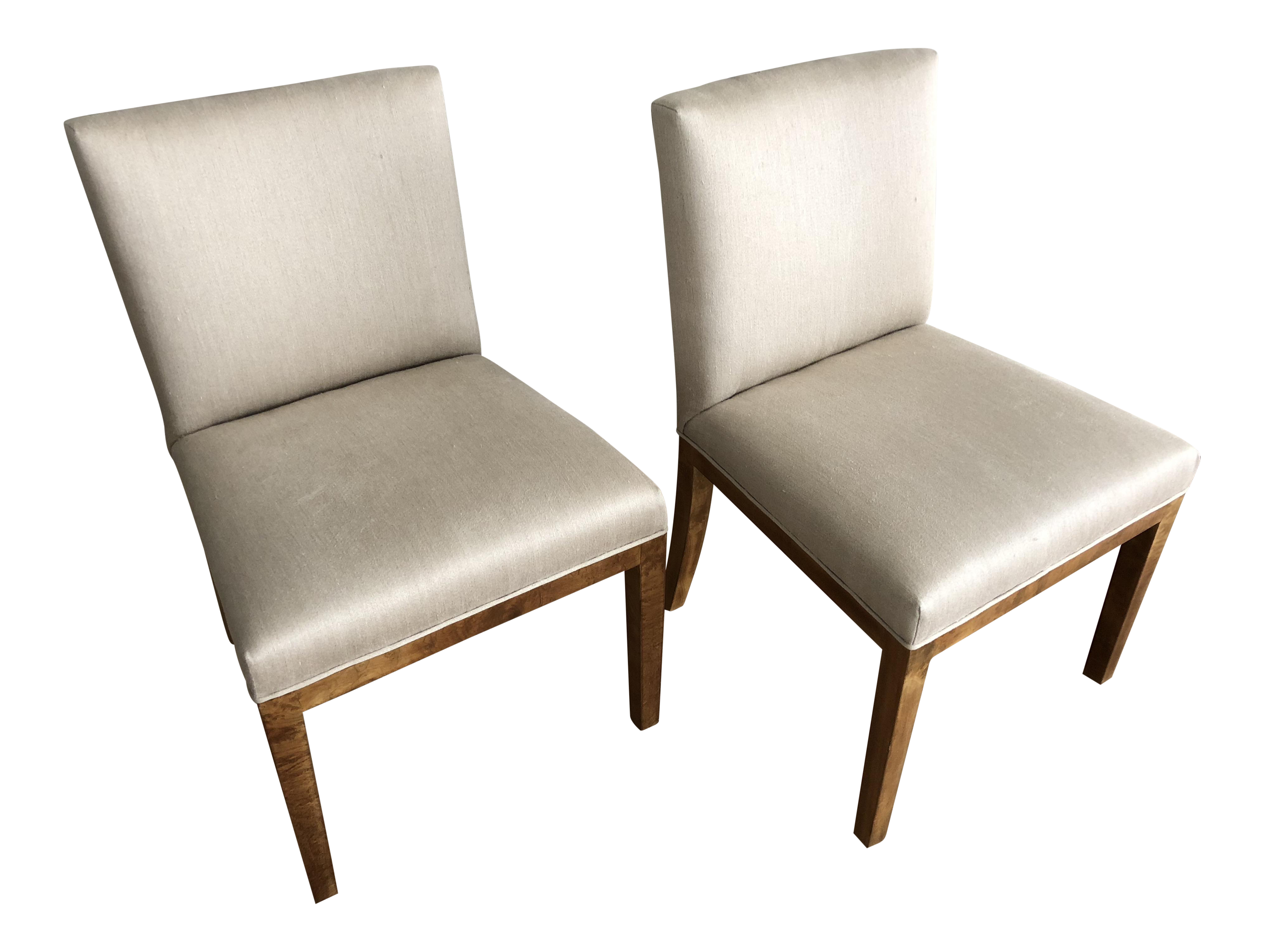 Samuel Marx Upholstered Side Chairs   A Pair   Image 1 Of 9