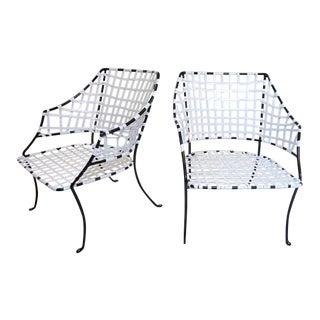 Vintage Brown Jordan Patio Lounge Chairs - A Pair For Sale