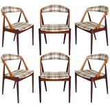 Image of Set Of 6 Rosewood Kai Kristiansen Dining Chairs For Sale