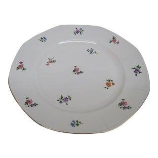 Mid 20th Century Zeh Scherzer Bavaria Floral German Porcelain Serving Plate For Sale