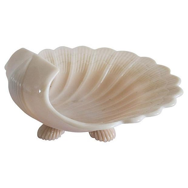 Pink Milk Glass Shell Catchall - Image 4 of 5
