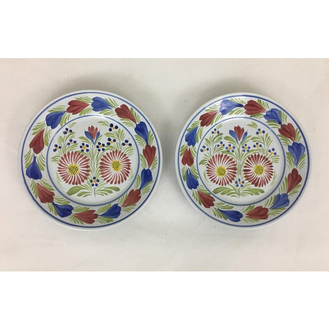 Blue Late 20th Century Quimper Plates - A Pair For Sale - Image 8 of 8