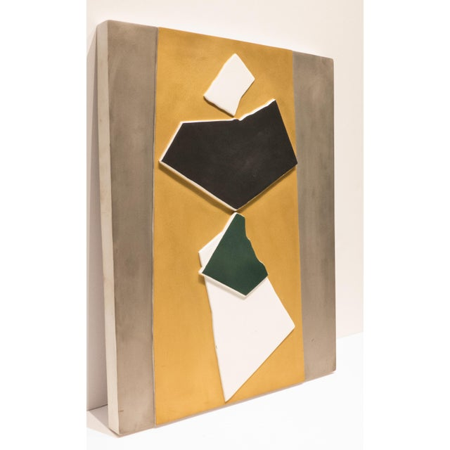 """Ceramic wall relief by Italian sculptor Italo Valenti. Titled """"Die Magierin"""" (The Magicians) and produced by Rosenthal in..."""
