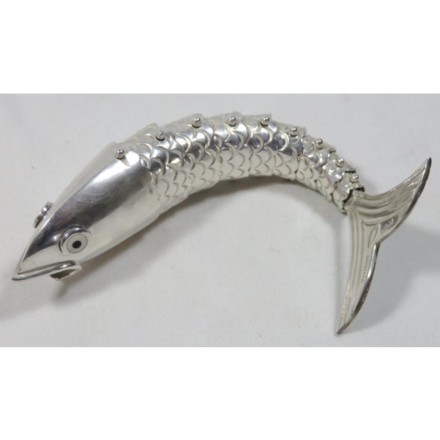 2000 - 2009 Emillia Castillo Mexico Silverplate Articulated Fish Bottle Opener For Sale - Image 5 of 13