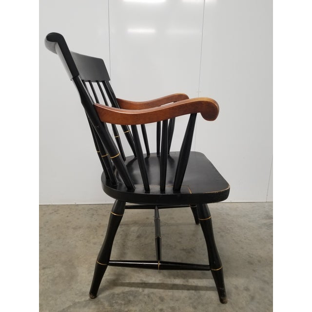 1970s Americana Nichols & Stone Princeton Windsor Chair For Sale - Image 5 of 9