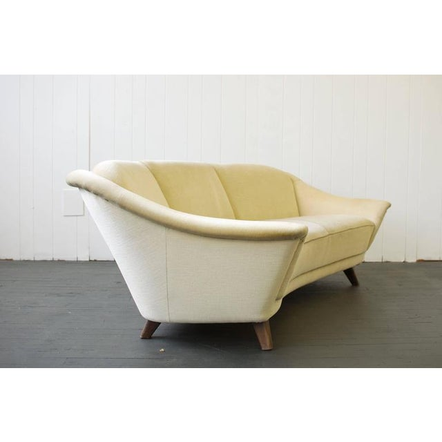 Early 20th Century 1950s Curved German Sofa For Sale - Image 5 of 6