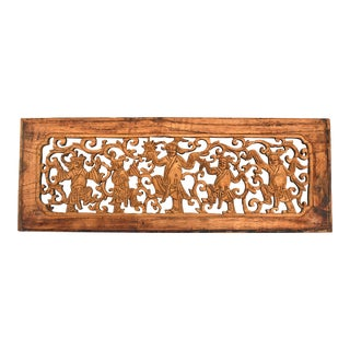 Antique Wood Carving With Dancers For Sale